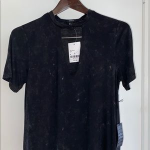 NWT CUTOUT T SHIRT DRESS WITH UNIQUE FINISHING